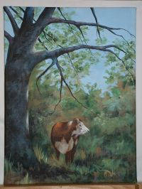 Cow Under the Oak Tree