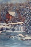 The Mill In Winter Printed Cards
