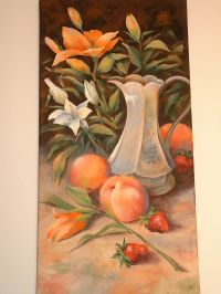 Pitcher, Peaches and Lilies Pattern Packet